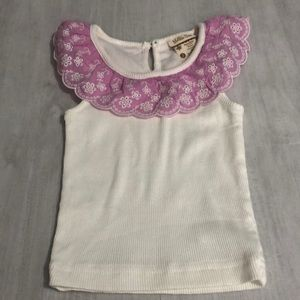 Pink and white cotton ribbed tank.  GUC